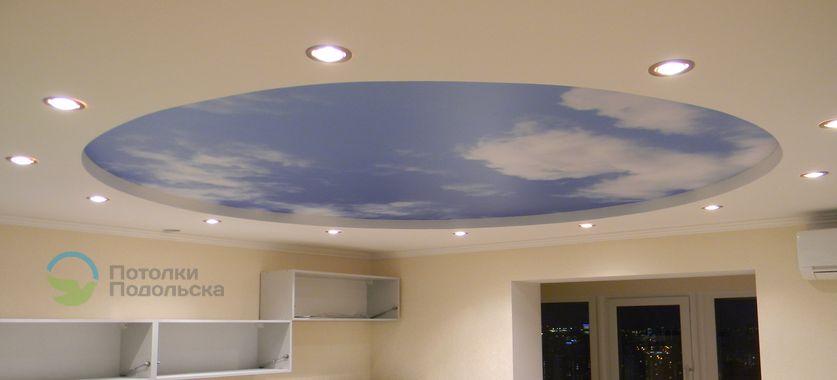 Установка двухуровневых коричневых натяжных потолков - YouTube | 380x837